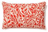 Rectangle Lotus Lace Pillow, Red