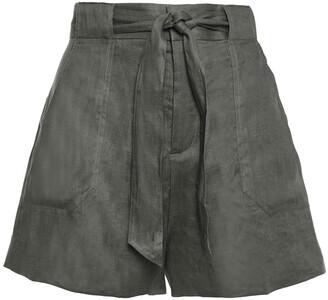 Equipment Belted Linen Shorts