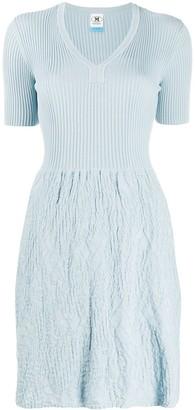 M Missoni Short Ribbed Dress