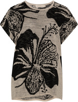 Isolde Roth Plus Size Floral jacquard knitted top
