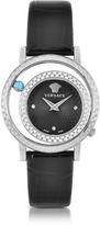 Versace Venus Stainless Steel w/Chroco Patent Leather Strap Women's Watch