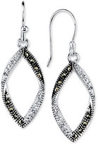 Unwritten Silver-Plated Marcasite and Crystal Drop Earrings