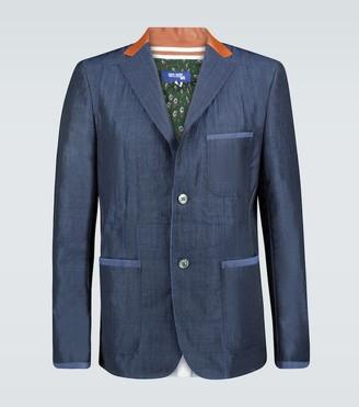 Junya Watanabe Wool and linen-blend blazer