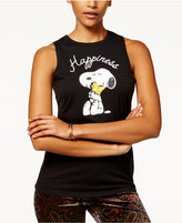 Peanuts Juniors' Embellished Snoopy Graphic Tank Top