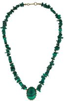 Miriam Haskell Malachite Beaded Necklace