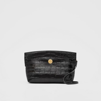 Burberry Embossed Leather Society Clutch