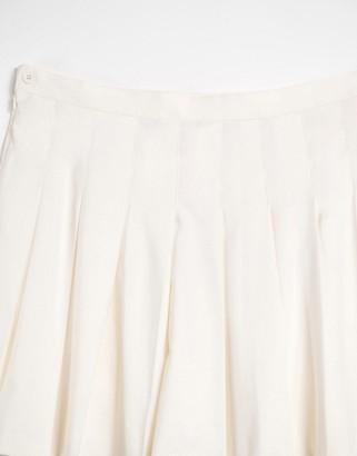 Monki Marianne pleated mini skirt in white