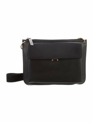 Marni Leather Chain Link Shoulder Bag Black