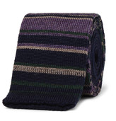 Etro - 5cm Striped Knitted Wool Tie