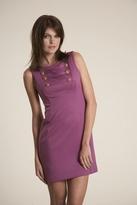 Corey Lynn Calter Nellie Button Detail Dress in Magenta