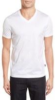 BOSS Men's 'Teal' Slim Fit Mercerized Cotton V-Neck T-Shirt