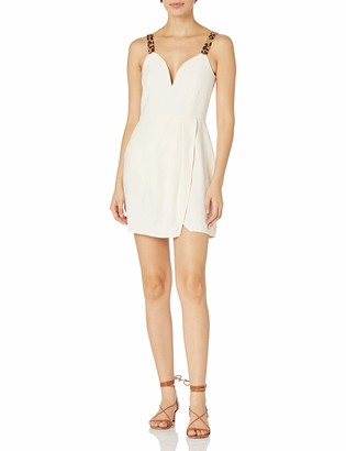 J.o.a. Women's Plunging Fit & Flare Short Dress