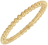 Simply Stacks Sterling 18K Yellow Gold-Plated 1.5mm Bead Ring