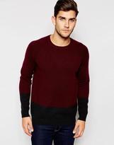 Asos Lambswool Rich Sweater in Color Block