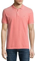 Lacoste Birdseye Short-Sleeve Pique Polo Shirt, Etna Red/Flour