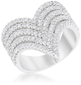 Kate Bissett Cubic Zirconia & Silvertone Vera Cocktail Ring