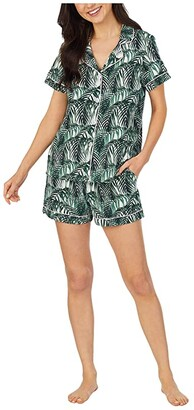Bedhead Pajamas Short Sleeve Pajama (Maui Palm) Women's Pajama Sets