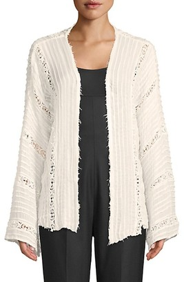 Free People Pleated Long-Sleeve Kimono