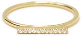 MINED 14k Gold & Pave Diamond Bar Ring, Assorted Metals