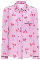Miu Miu Printed silk shirt