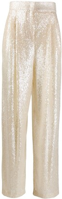 Philosophy di Lorenzo Serafini High Rise Sequin Trousers