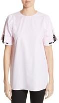 N°21 Women's N?21 Crystal Embellished Stripe Silk Shirt