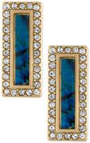 Rachel Roy Gold-Tone Pavé & Blue Stone Drop Earrings