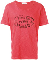 Pierre Balmain brand print T-shirt - men - Cotton - 46