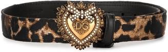 Dolce & Gabbana leopard print Devotion belt