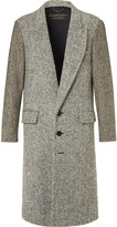 Burberry Donegal Herringbone and Wool-Tweed Coat