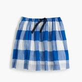 J.Crew Girls' large gingham pull-on skirt