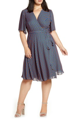 Maree Pour Toi Print Wrap Dress