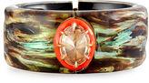Alexis Bittar Wood-Pattern Lucite Cuff Bracelet