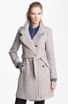 T Tahari 'Izzy' Belted Tweed Coat (Online Only)