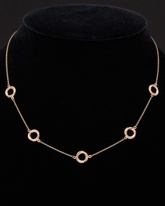 14K Italian Rose Gold Circle Station Necklace