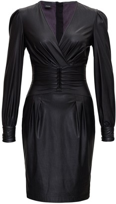 Pinko Faux Leather Fitted Dress
