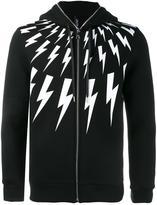 Neil Barrett lightning bolt printed hoodie