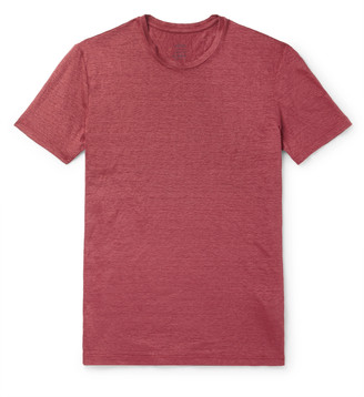 Altea Garment-Dyed Slub Linen T-Shirt