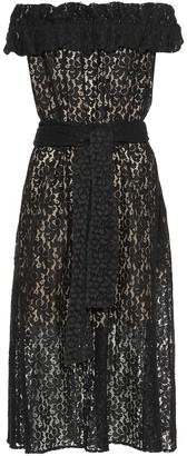 Stella McCartney Off-the-shoulder lace dress