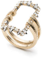 Alexis Bittar Crystal Encrusted Oversized Link Ring
