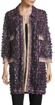 Anna Sui Sequined and Fringed Open Tunic
