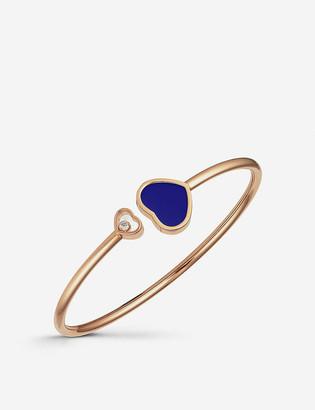 Chopard Happy Hearts 18ct rose-gold lapis lazuli and diamond bangle bracelet