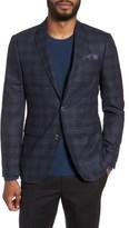 Sand Men's Trim Fit Plaid Wool Sport Coat