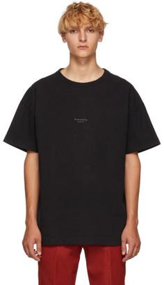 Acne Studios Black Distressed Logo T-Shirt