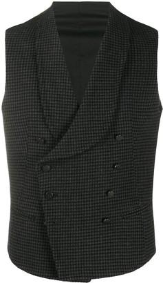 Tagliatore Houndstooth Pattern Waistcoat