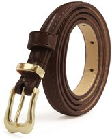 uxcell® Ladies Single Prong Buckle Skinny Patent PU Belt