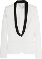 Ruby wool-blend crepe tuxedo jacket