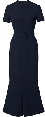 Valentino Belted Double-Faced Wool Midi Dress