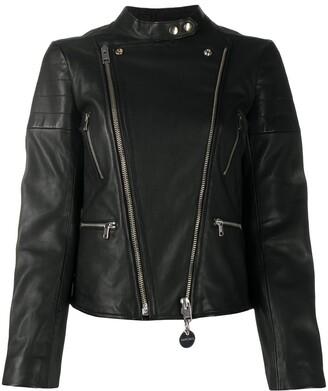Diesel L-Mars piercing-embellished biker jacket
