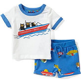 Joules Baby Boys Newborn-12 Months Sea Printed Top & Shorts Set